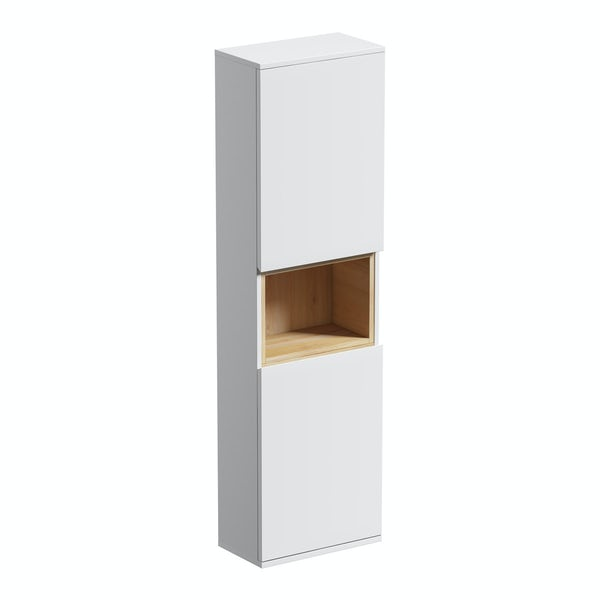 Tate White & Oak wall cabinet