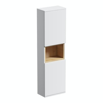 Mode Tate white & oak wall hung cabinet 1400 x 400mm