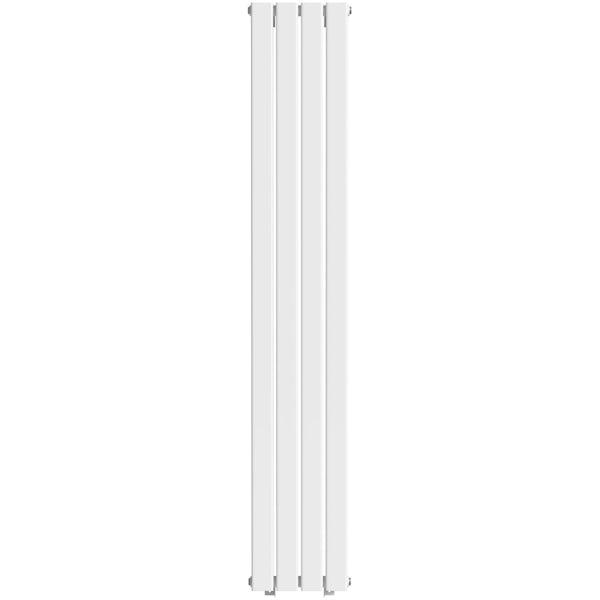 The Heating Co. Bonaire white double vertical flat panel radiator