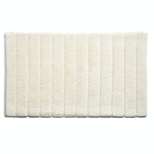 Hug Rug luxury bamboo stripe cream bathroom mat 50 x 80cm