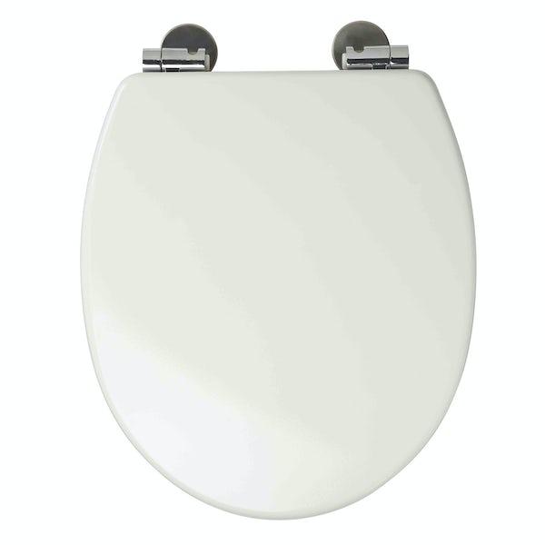 Croydex Dawson white soft close toilet seat
