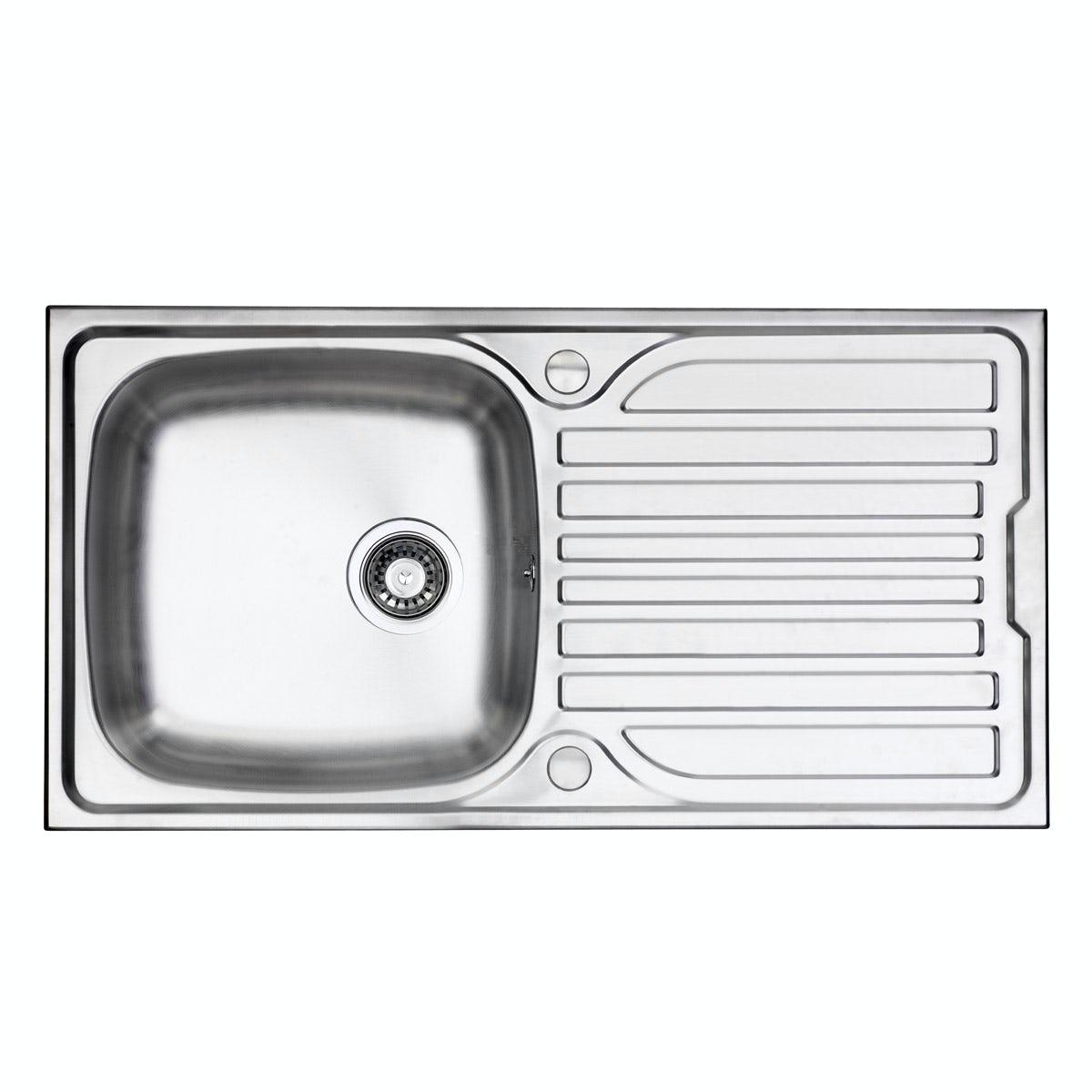 1 0 Bowl Stainless Steel Kitchen Sink