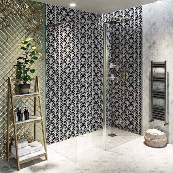 Showerwall Custom Art Deco acrylic shower wall panel