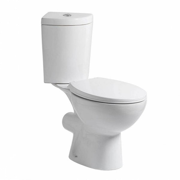 Clarity corner close coupled toilet inc soft close seat