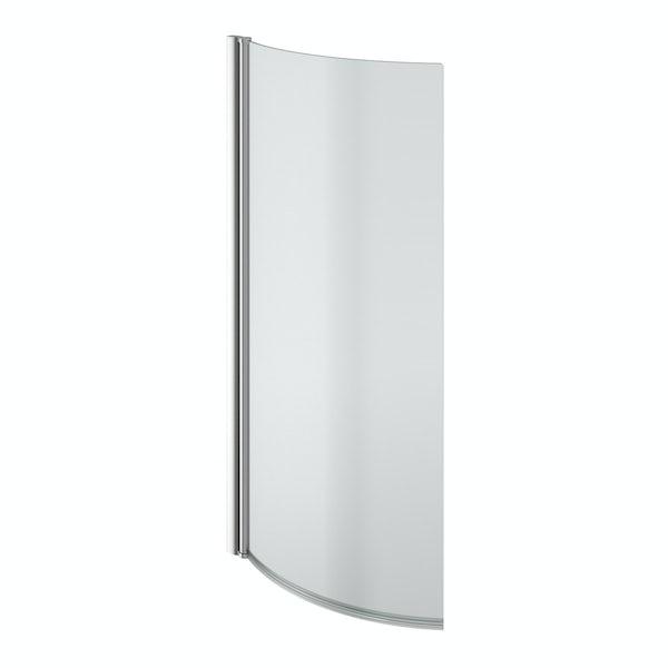 5mm P shaped shower bath screen