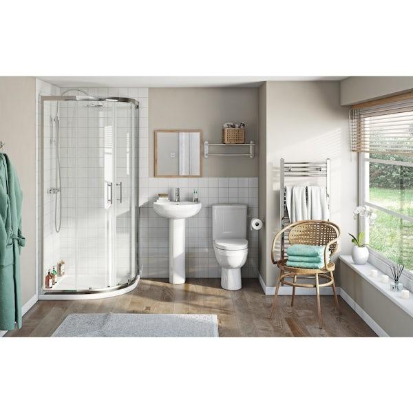 Eden suite with sliding quadrant shower enclosure and tray