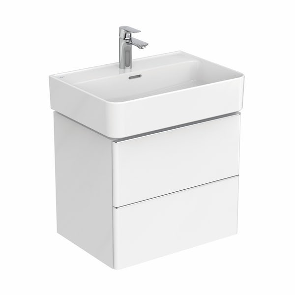 Ideal Standard Strada II white wall hung vanity unit and basin 600mm