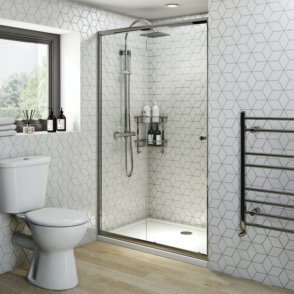 Clarity 4mm sliding shower door