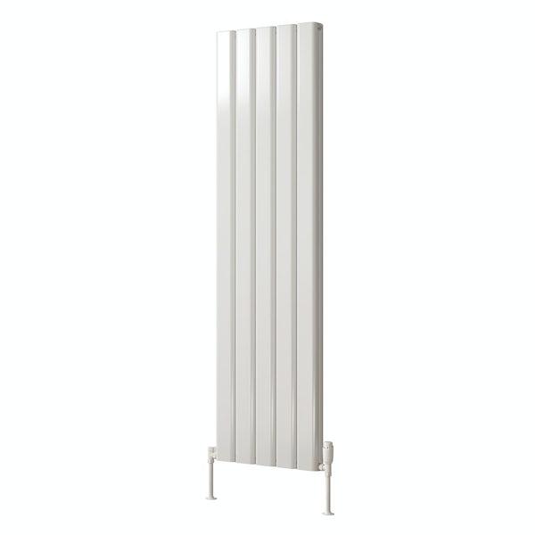 Reina Vicari white double vertical aluminium designer radiator
