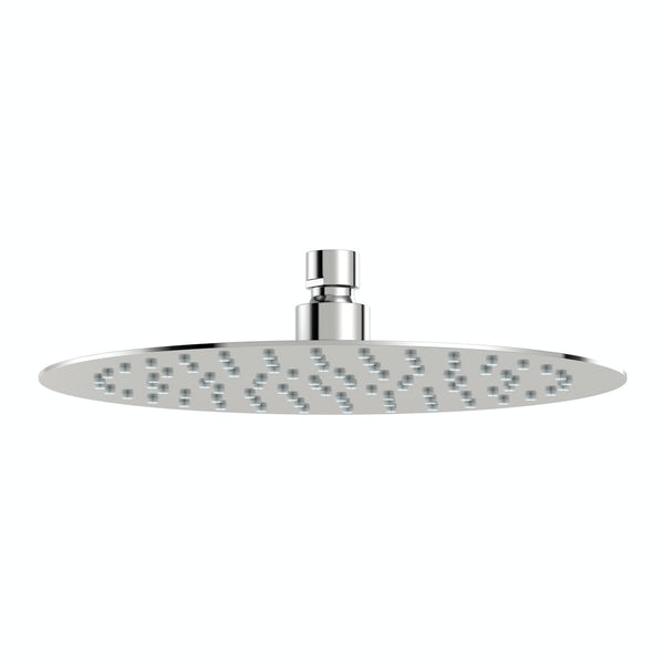 Mode Renzo round slim stainless steel shower head 250mm