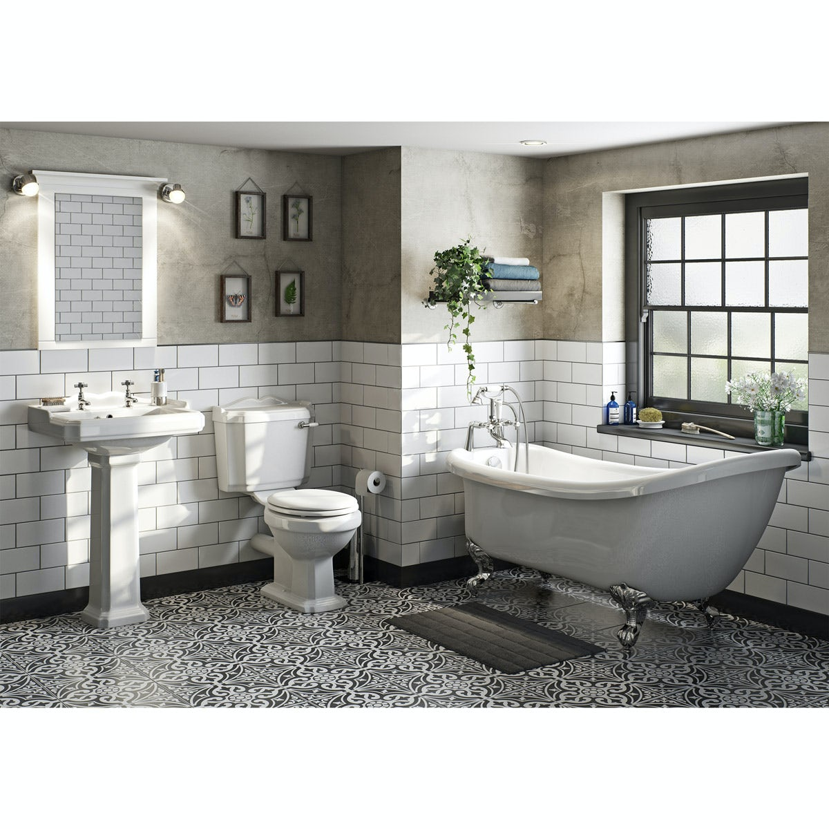 The Bath Co Winchester Bathroom Suite With Roll Top Bath And Taps