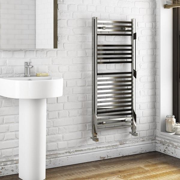 Orchard Wye heated towel rail 1200 x 490
