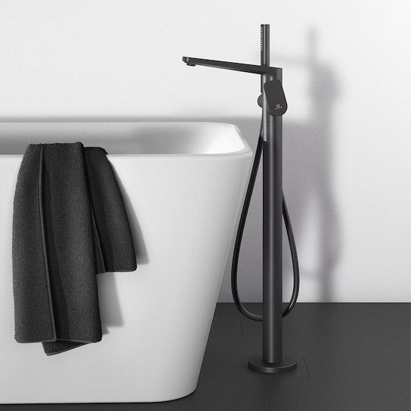 Ideal Standard Tonic II silk black freestanding bath shower mixer tap