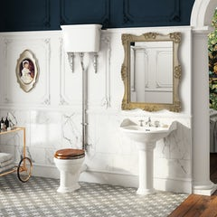 Main image for Belle de Louvain Charlet complete high level cloakroom suite with chrome fittings