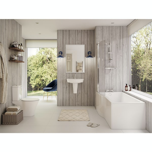 Ideal Standard Concept Air complete left hand shower bath suite 1700 x 800