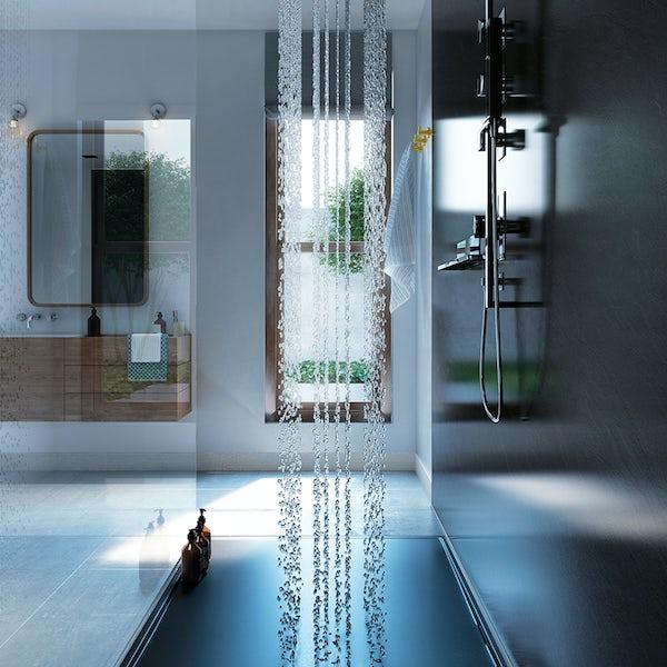 Showerwall Slate Grey waterproof proclick shower wall panel