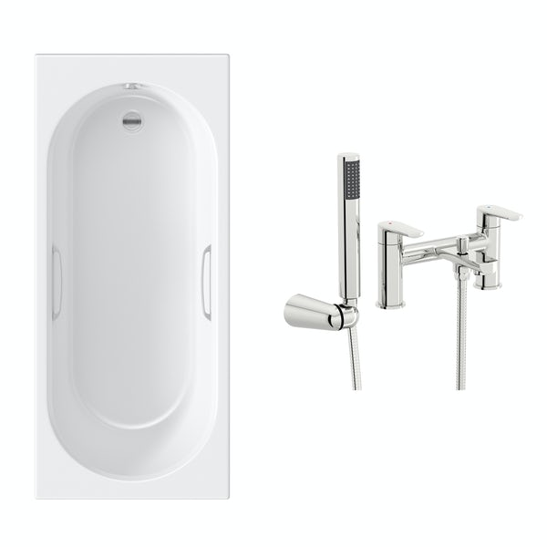 Orchard Ealing single ended bath 1700 x 700 with hand grips and free tap