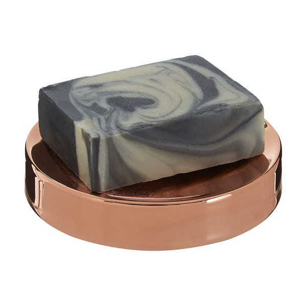 Accents Clara stainless steel rose gold soap dish