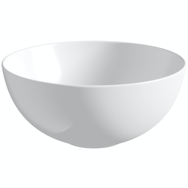 Orchard Derwent round countertop basin with waste