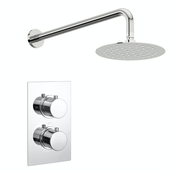 Kirke Curve concealed thermostatic mixer shower with wall arm