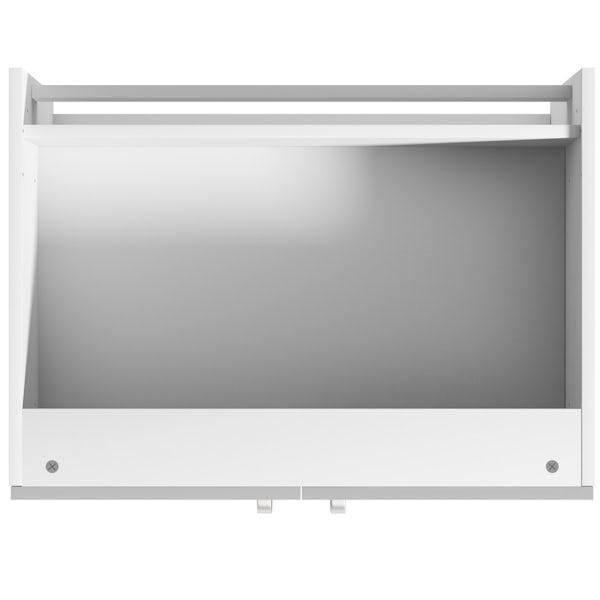 Schon Boston light grey double door slab base unit
