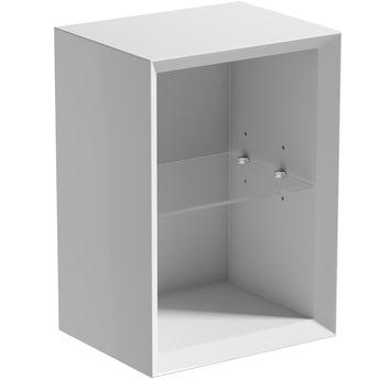 Mode Larsen white gloss open storage 250 x 320mm