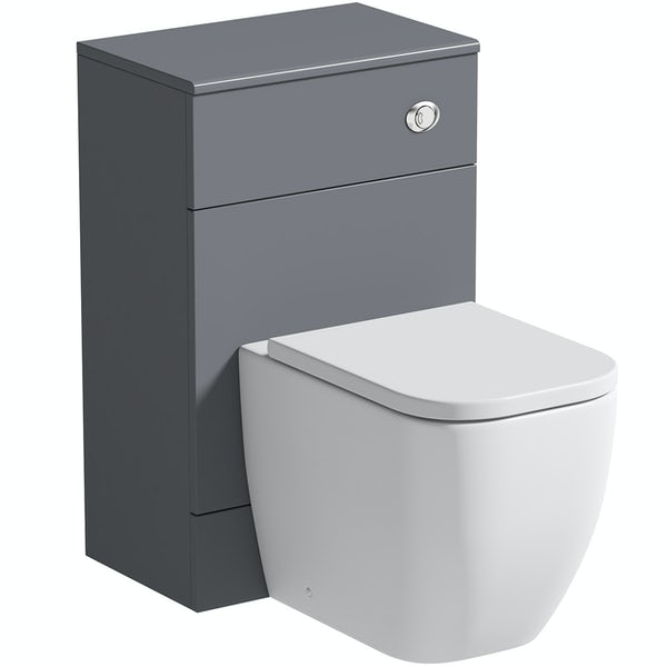 The Bath Co. Hatfield grey back to wall toilet unit 500mm