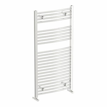 The Heating Co. Elsdon chrome curved heated towel rail