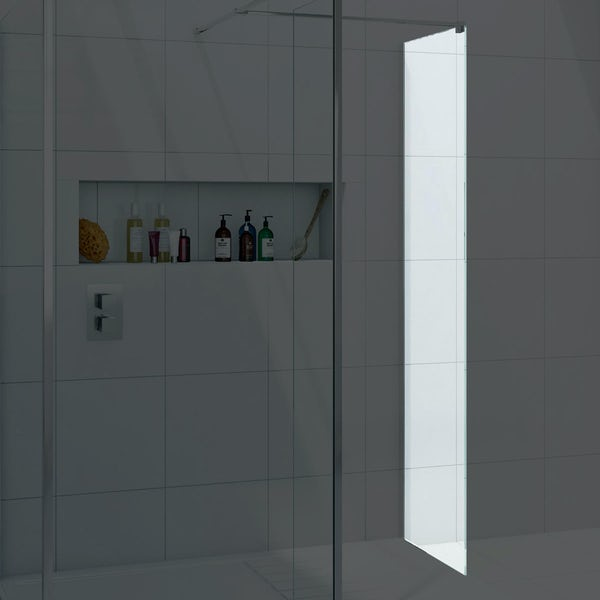 8mm wet room glass panel 400