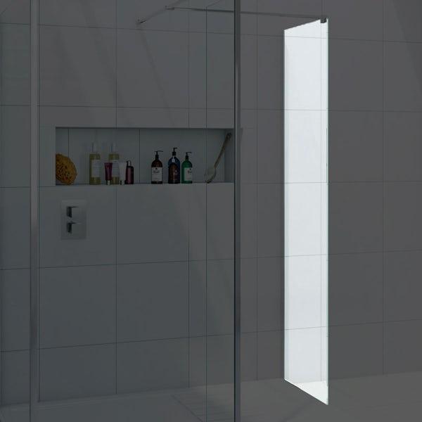 8mm wet room glass panel 400
