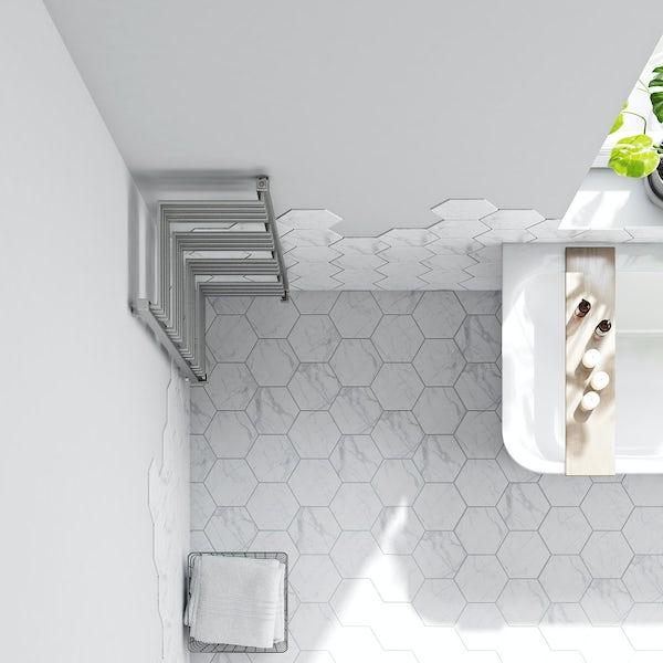 Terma Incorner chrome effect heated towel rail 1005 x 350
