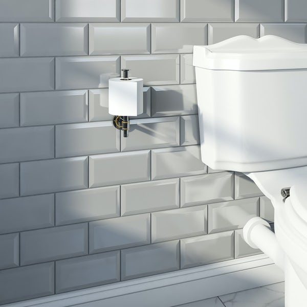 Accents premium traditional spare toilet roll holder