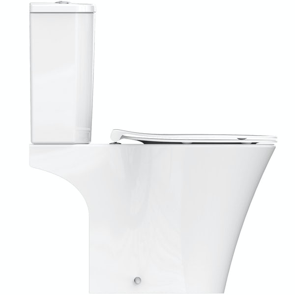 Ideal Standard Concept Air open back close coupled toilet with soft close toilet seat