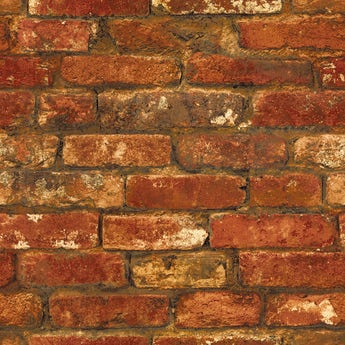 Fine Decor rustic brick sidewall red wallpaper