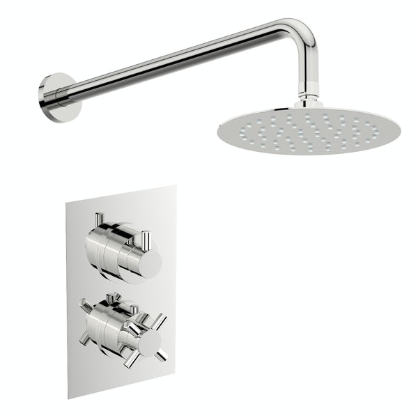 Mode Tate thermostatic mixer shower with wall shower head