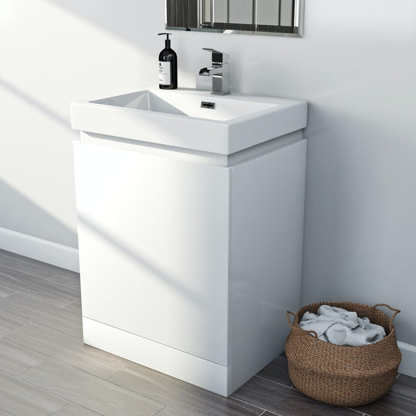 Mode Hardy white floorstanding vanity unit and basin 600mm Back to product list Clone product