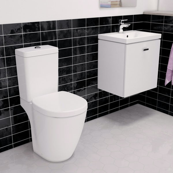 Ideal Standard Concept Space white vanity unit with close coupled toilet