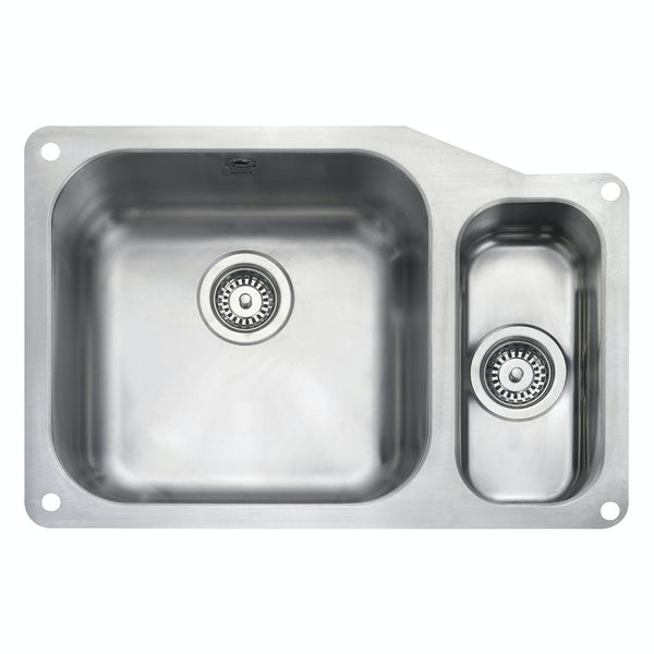 Rangemaster Atlantic Classic 1.5 bowl undermount right handed kitchen sink with waste