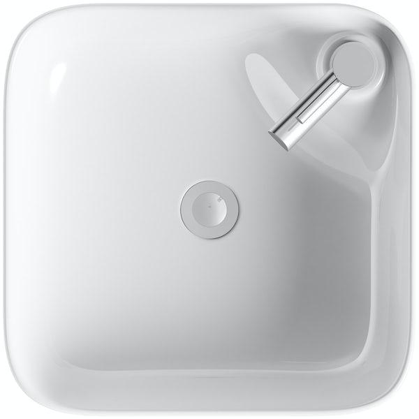 Mode Hughes square thin edge 1 tap hole countertop basin 430mm