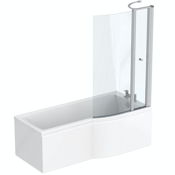 Ideal Standard Concept Air complete white furniture and right hand Idealform Plus shower bath suite 1700 x 800