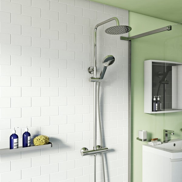 Orchard Eden round thermostatic exposed mixer shower