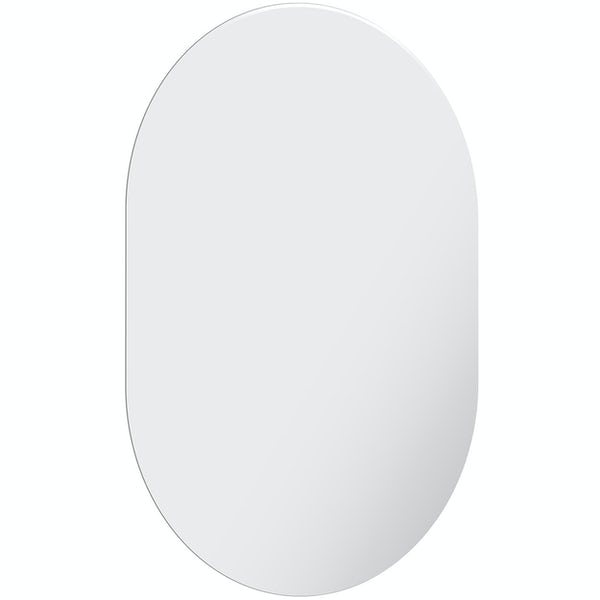 Accents bevelled edge oval mirror 70 x 50cm