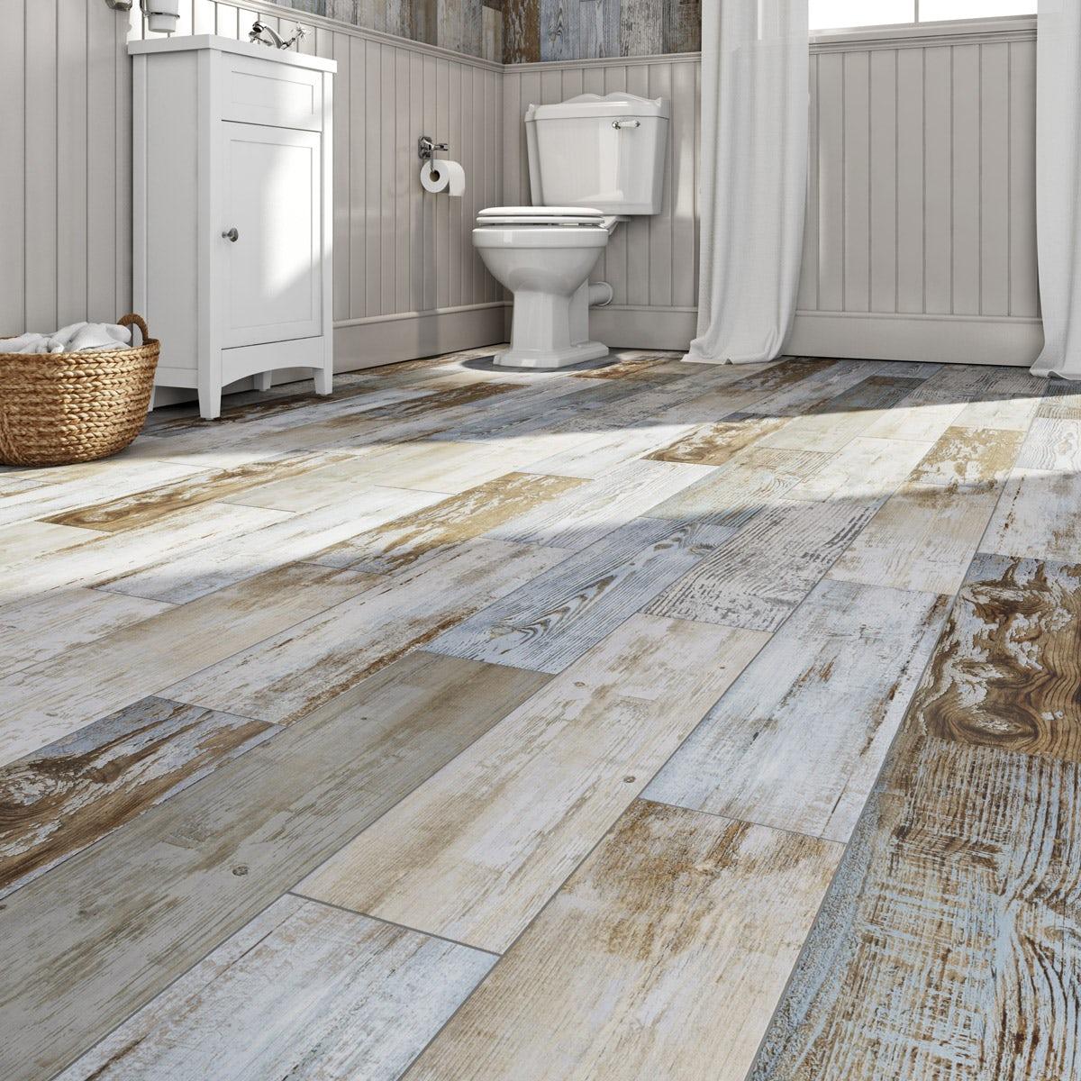 Bathroom Flooring Wood Effect Image