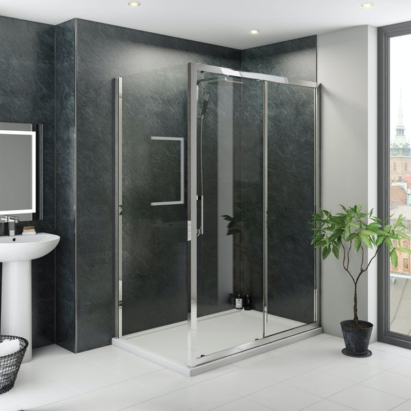 Multipanel Classic Riven Slate Hydrolock shower wall panel