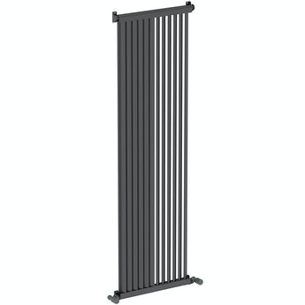 Mode Zephyra anthracite grey vertical radiator 1500 x 468