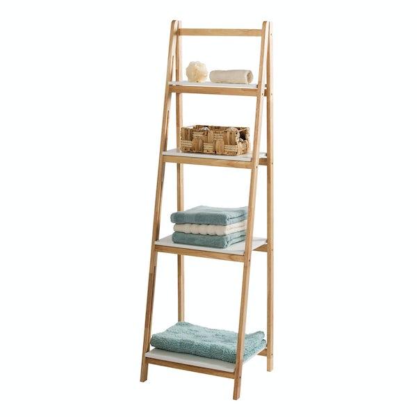 Showerdrape Lisbon four tier ladder shelf