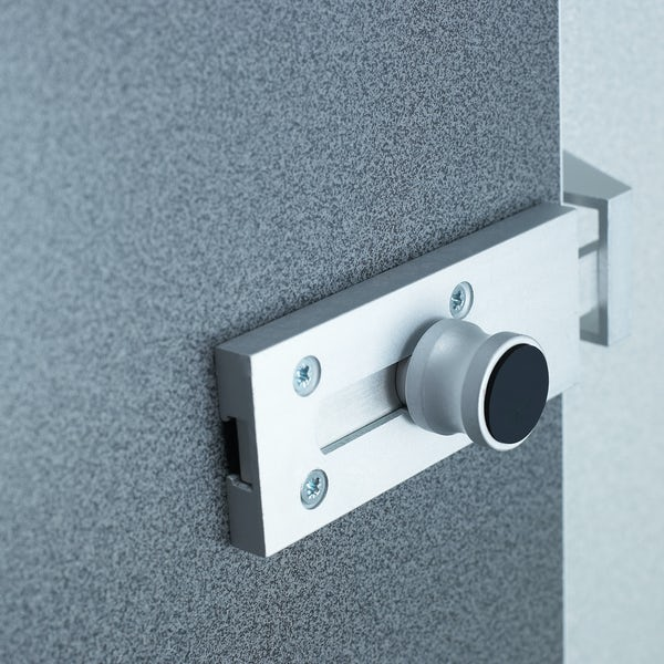Pendle anthracite toilet cubicle door pack with speckled grey pilasters