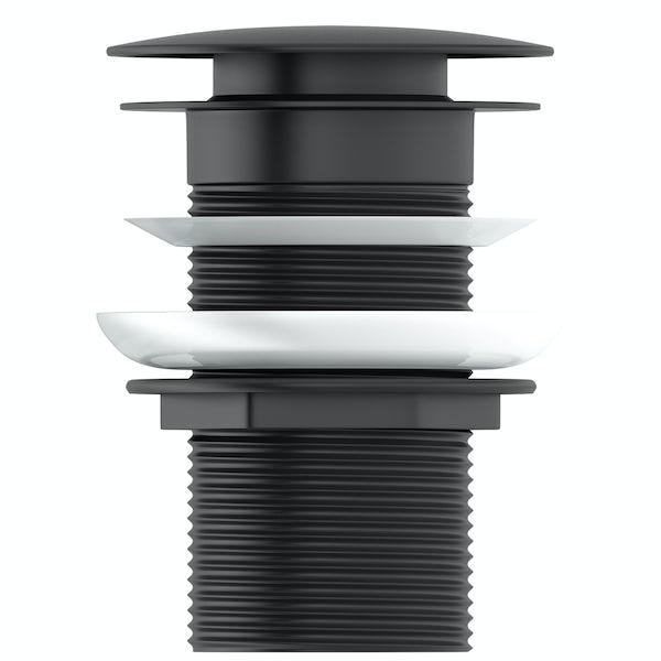 Mode Spencer click clack unslotted black basin waste