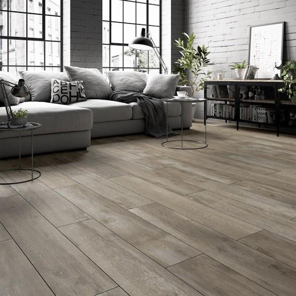 Kingston oak wood effect matt wall and floor tile 200mm x 1200mm