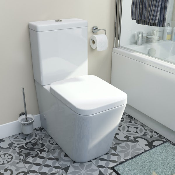 Mode Lustig close coupled toilet and soft close seat
